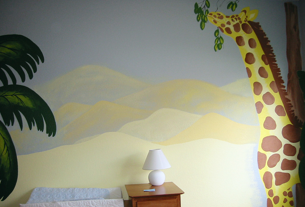 Jungle Giraffe Wall